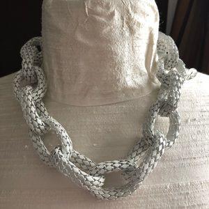 White chain necklace